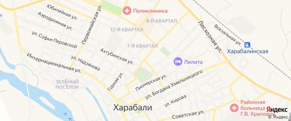 СТ СОТ Роща на карте Харабали с номерами домов