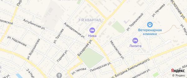 Воинский переулок на карте Харабали с номерами домов