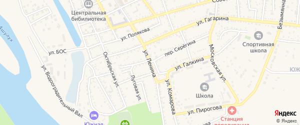 Улица Ленина на карте Харабали с номерами домов
