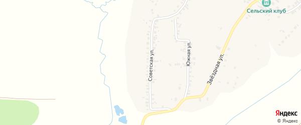 Советская улица на карте деревни Хирле-Сир с номерами домов
