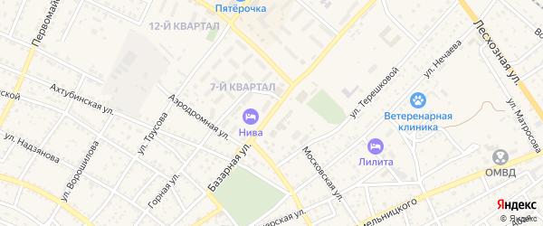 Торговая площадь на карте Харабали с номерами домов