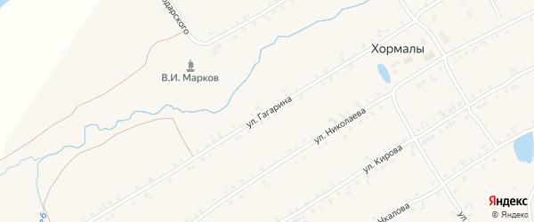 Улица Гагарина на карте села Хормалы с номерами домов