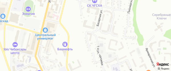 Улица Маяковского на карте Чебоксар с номерами домов