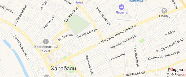 Тихая улица на карте Харабали с номерами домов
