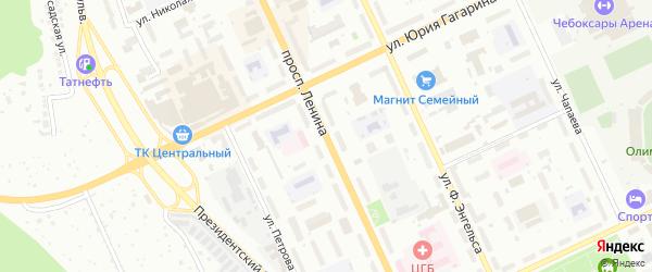 Проспект И.Я.Яковлева на карте Чебоксар с номерами домов