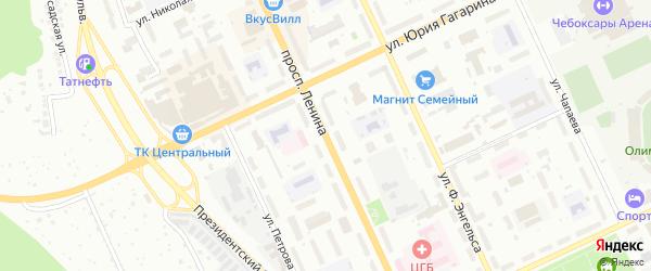 Проспект Ленина на карте Чебоксар с номерами домов