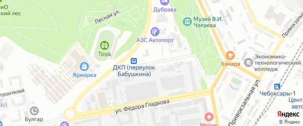 Переулок Бабушкина на карте Чебоксар с номерами домов