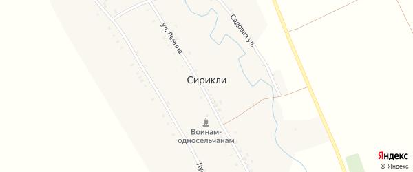 Садовая улица на карте деревни Сирикли с номерами домов