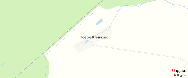 Карта деревни Новое Климово в Чувашии с улицами и номерами домов