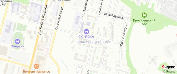 Улица И.С. Тукташа на карте Чебоксар с номерами домов