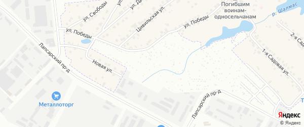 Территория сдт Строитель-2 на карте Чебоксар с номерами домов