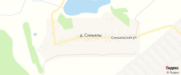 Синьяльская улица на карте деревни Синьялы с номерами домов