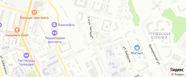 Улица 1-ая Чапаева на карте Чебоксар с номерами домов