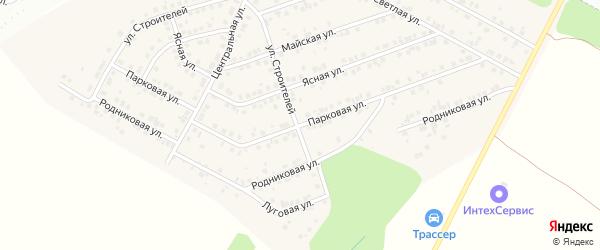 Парковая улица на карте деревни Сятракасы (Лапсарского с/п) с номерами домов