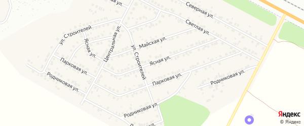 Ясная улица на карте деревни Сятракасы (Лапсарского с/п) с номерами домов