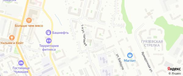 Студенческий переулок на карте Чебоксар с номерами домов