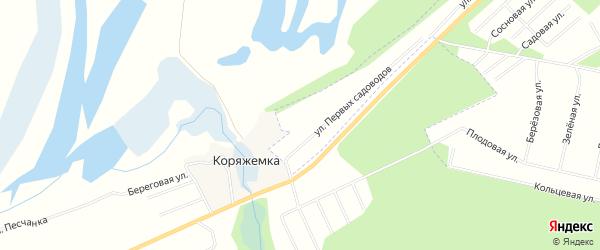 Карта деревни Коряжемки в Архангельской области с улицами и номерами домов