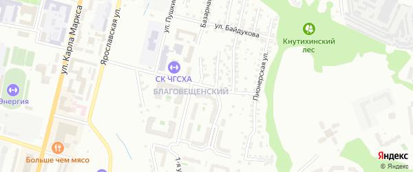 Ярмарочная площадь на карте Чебоксар с номерами домов
