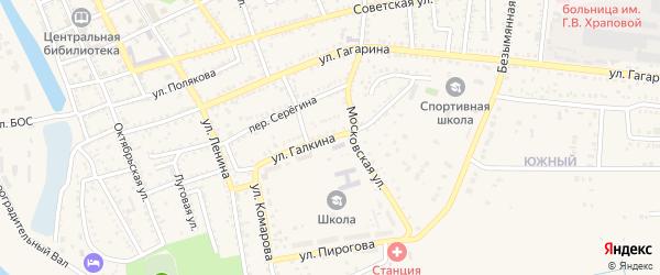 Улица Галкина на карте Харабали с номерами домов