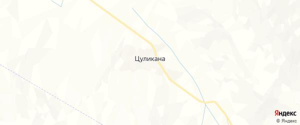 Карта хутора Цуликана в Дагестане с улицами и номерами домов