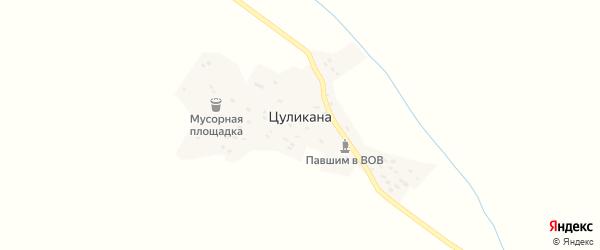 Шоссейная улица на карте хутора Цуликана с номерами домов