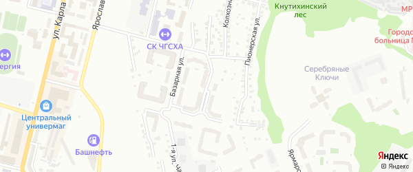 Бульвар Олега Волкова на карте Чебоксар с номерами домов