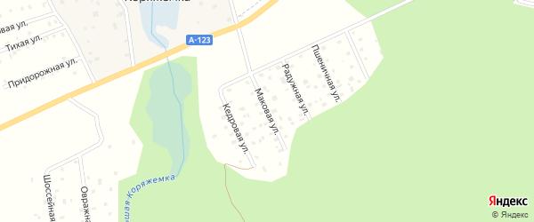 Маковая улица на карте садового некоммерческого товарищества Садоводы Севера с номерами домов