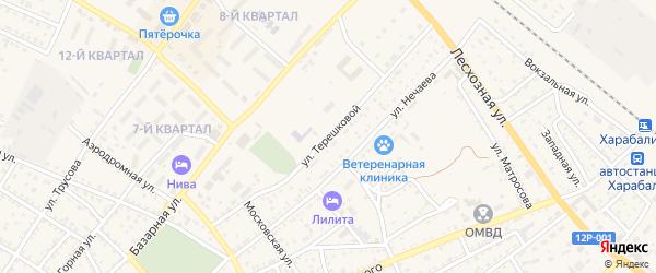 Улица Терешковой на карте Харабали с номерами домов
