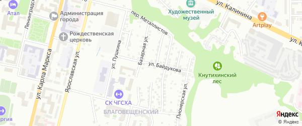 Улица Байдукова на карте Чебоксар с номерами домов