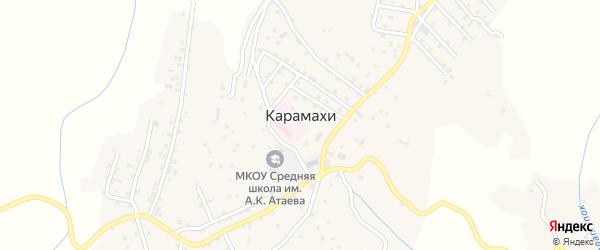 Шоссейная улица на карте села Карамахи с номерами домов