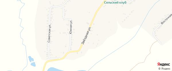 Звездная улица на карте деревни Хирле-Сир с номерами домов