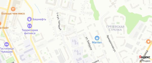 Улица 2-я Чапаева на карте Чебоксар с номерами домов