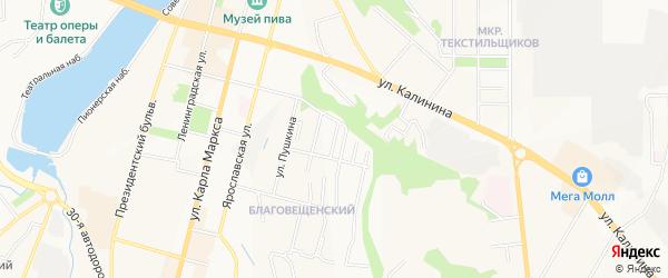Карта поселка Садоводческого товарищества в Чувашии с улицами и номерами домов