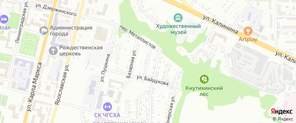 Дачный переулок на карте Чебоксар с номерами домов