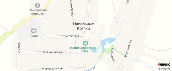 Советская улица на карте деревни Напольные Котяки с номерами домов
