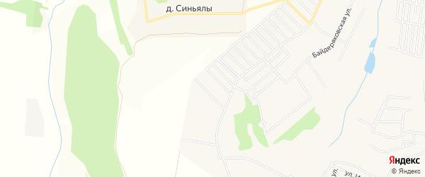 СТ Ветеран-3 на карте Кугесьского сельского поселения с номерами домов