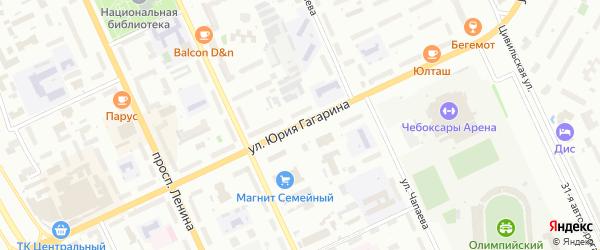Улица Гагарина Ю. на карте Чебоксар с номерами домов
