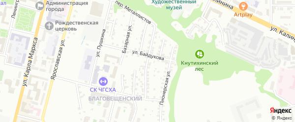 Колхозная улица на карте Чебоксар с номерами домов