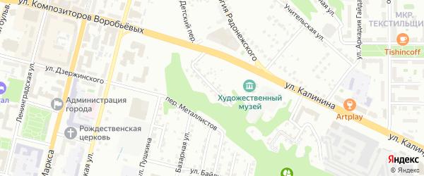 Казанская улица на карте Чебоксар с номерами домов