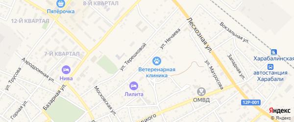 Улица Нечаева на карте Харабали с номерами домов