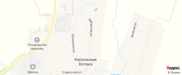 Заводская улица на карте деревни Напольные Котяки с номерами домов
