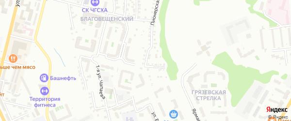 Улица Белинского на карте Чебоксар с номерами домов