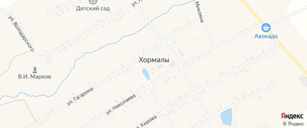 Центральная улица на карте села Хормалы с номерами домов