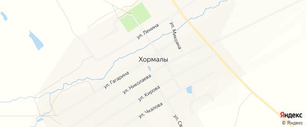 Карта села Хормалы в Чувашии с улицами и номерами домов