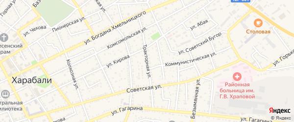 Тракторная улица на карте Харабали с номерами домов