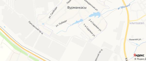 СТ Строитель на карте Синьяльского сельского поселения с номерами домов