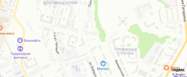 Переулок Белинского на карте Чебоксар с номерами домов