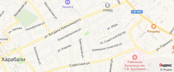 Советский переулок на карте Харабали с номерами домов
