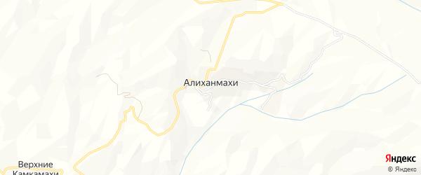 Карта села Алиханмахи в Дагестане с улицами и номерами домов