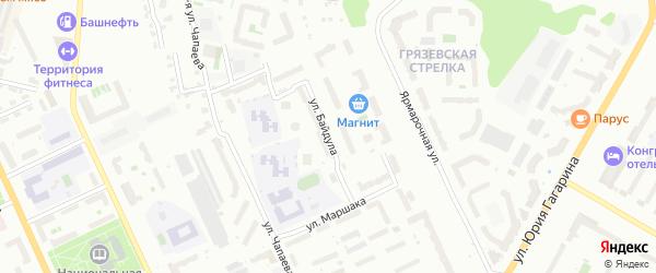 Улица Байдула на карте Чебоксар с номерами домов